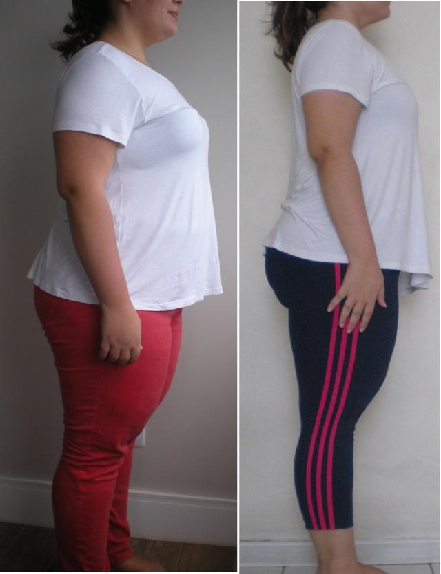 Antes, 108kg - Depois, 94,9kg