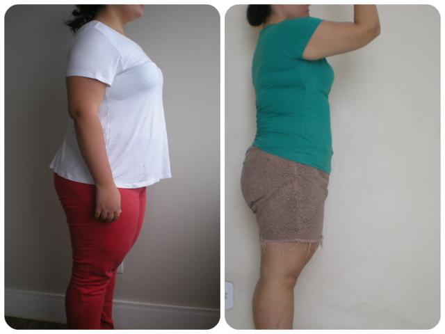 Antes & Depois 3 meses lado