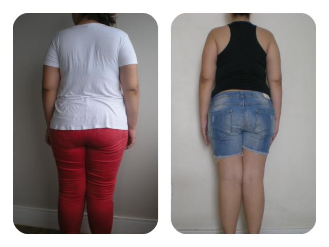 Antes & Depois 4 meses costas