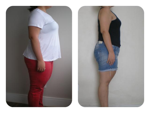 Antes & Depois 4 meses lado