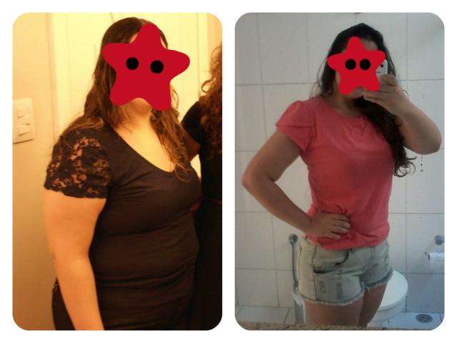 Antes & Depois 5 meses vestida