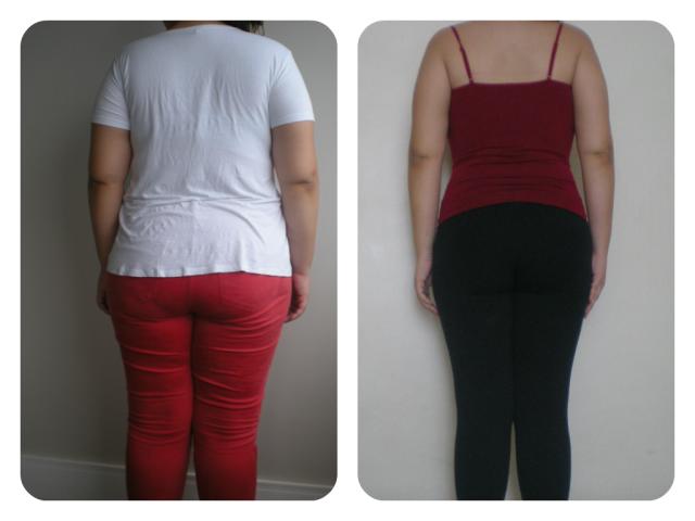 Antes & Depois 8 meses vestida costas