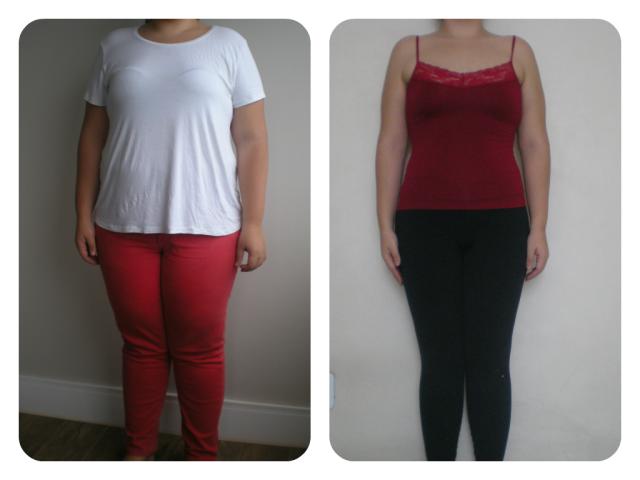 Antes & Depois 8 meses vestida frente