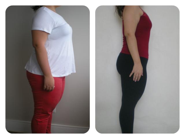 Antes & Depois 8 meses vestida lado1